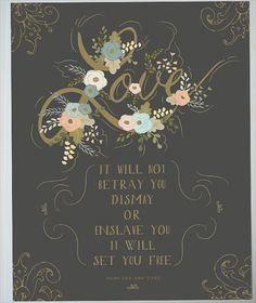 One of my favorite Mumford & Sons quotes - very cool!>>Love print for your Wedding Gold and charcoal by firstsnowfall, $46.00