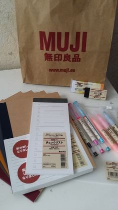 Muji pens and stationary!                                                                                                                                                                                 More