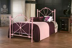 3ft Regency Pink Bed Frame - £149.95 - Another pink frame, popular with the young ladies!  A traditional design with a modern twist being pink. Looks great in any room.  The base is constructed with high quality sprung wood slats which are supported by strong steel side rails.