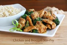 Melissa's Southern Style Kitchen: Chicken and Broccoli Stir-Fry