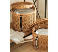 pottery barn baskets   Pantry Plate Storage Basket   Pottery Barn