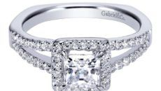 wedding rings for women princess cut halo picture