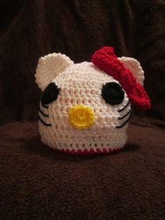 Hello Kitty Crochet Hat by bbraye on Etsy 8e4b156e8ac6