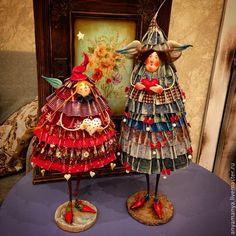 Купить Елка- горошек - авторская ручная работа, авторская кукла, Новый Год, новогодний подарок