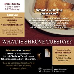 Today is Shrove Tuesday. What's with the pancakes? #catholic #shrovetuesday #mardigras #fattuesday #lent #pancaketuesday