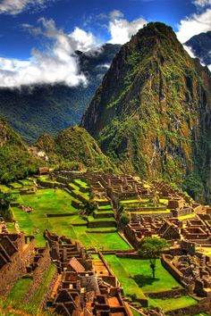 Machu Picchu in Peru some day I am gonna get there