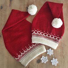 Nissejentelue og Nisseguttlue pattern by Frøydis Fadum, Diy Abschnitt, Knitting For Kids, Free Knitting, Knitting Projects, Baby Knitting, Crochet Baby, Crochet Projects, Knit Crochet, Kwanzaa, Christmas Knitting