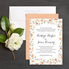 Sweet Blooms Wedding Invitations by Elli