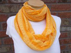Orange Scarf Gauze Scarf Cute Jersey Knit Lightweight Scarf Striped Spring Summer Scarf Cute Cowl Scarf Infinity Scarf Loop Scarf by foreverandrea on Etsy
