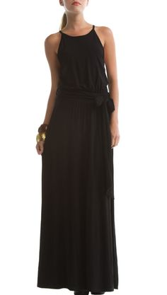 I'm looking for the perfect, black, flowy (non-jersey) maxi dress. Any suggestions?