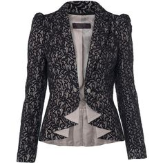 Black Lace Blazer ($39) ❤ liked on Polyvore