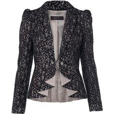 Black Lace Blazer ($39) ❤ liked on Polyvore