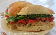 Recipes of a Cheapskate: Pesto Turkey Sandwiches