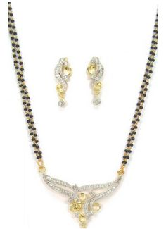 Vibrant Silver Diamond Mangalsutra Set SKU: NCN617 bit.ly/1UrkgIQ