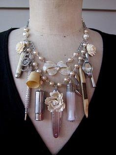 Steampunk Jewelry Statement  Necklace Steampunk di rebecca3030