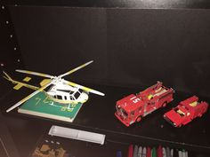 1/64 Code 3 Emergency Squad 51, Engine 51 and LaCoFD helicopter #Code3