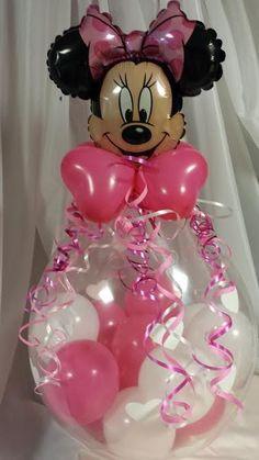 Centro de mesa de globos burbuja o rellenos para baby for Balloon decoration machine