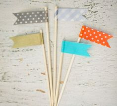 Top DIY Projects of 2013 on Oh Lovely Day | washi flags