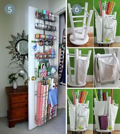 Roundup: 10 Genius Gift Wrap Storage Solutions » Curbly | DIY Design Community