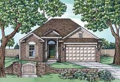 Traditional Style House Plans - 1470 Square Foot Home, 1 Story, 2 Bedroom and 2 3 Bath, 2 Garage Stalls by Monster House Plans - Plan 10-1688