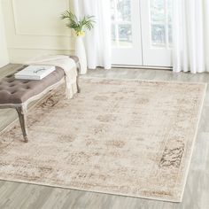 Safavieh Vintage Oriental Stone Distressed Silky Viscose Rug x Brown, Size x Vintage Soft, Vintage Rugs, Vintage Inspiriert, Transitional Area Rugs, Oriental Pattern, Grey Stone, Accent Rugs, Online Home Decor Stores, Online Shopping