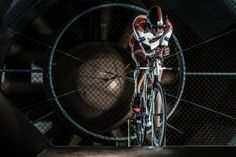 Ironman World Champion Jan Frodeno testing his new Speedmax CF SLX in the wind tunnel © Markus Greber