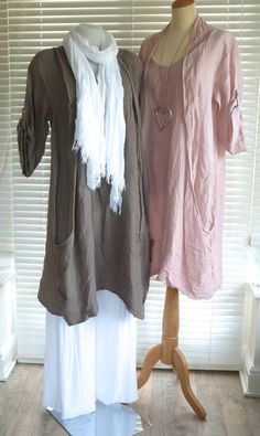Fabulous lagenlook Italian linen quirky lined shawl collar tunic dress RSP £59