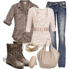 """""""Brown & Floral are Oh-So-Comfy!!!"""""""