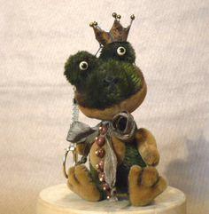 Teddy Frog Aventurine! Mini! LuckyCharmsKids! by Mara Grishina