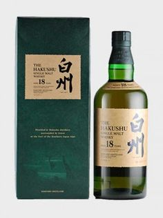 Hakushu 18 Years Old A fantastic 18 year old Japanese whisky from the Hakushu distillery.
