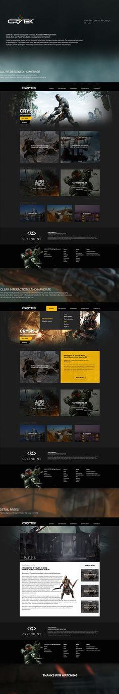Design concept for the Crytek Company website via Hakan Terzi from Behance portfolio