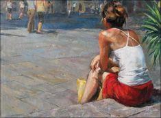 M�nica Castanys, 1973 ~ Impressionist Figurative painter