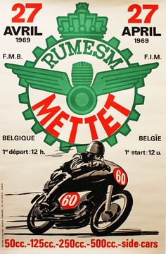 motorcycle racing poster – Page 2 – Vintage OCD Logos Vintage, Posters Vintage, Retro Poster, Vintage Advertisements, Bike Poster, Motorcycle Posters, Motorcycle Art, Bike Art, Classic Motorcycle