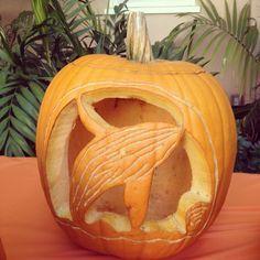 humpback whale pumpkin carving - Google Search