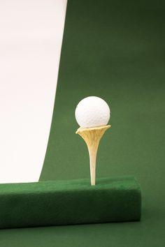 Golf tee for Golf de Lavaux ECAL, Mas Luxe 2013-2014 Design:Monica Albini Photos © :Monica Albini