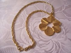 Trifari Necklace Gold Tone Vintage Circle by PrettyJewelryThings, $39.00