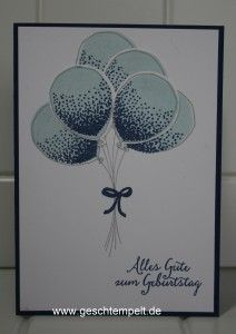 Stampin up, Partyballons, Luftballons