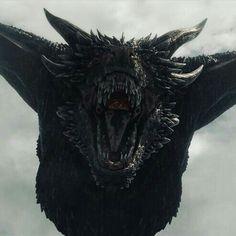 Game of Thrones visuelle Effekte - Diy Tattoo Ideas Drogon Game Of Thrones, Arte Game Of Thrones, Game Of Thrones Dragons, Got Dragons, Game Of Thrones Fans, Mother Of Dragons, Fantasy Creatures, Mythical Creatures, Daenerys Targaryen