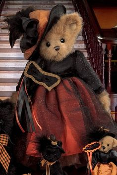 Ms. Abracadabra    Introduction Date: Fall 2008   Retired Date: 2010     2009 TOBY (Teddy Bear of the Year) Industry's Choice Award Winner    2009 TOBY (Teddy Bear of the Year) Public's Choice Award Winner