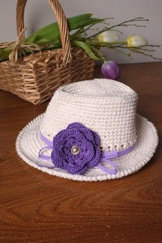 Wide Brimmed Baby Girl Fedora Hat Off White Baby Girl Shower Gift Newborn Girl Photography Props Toddler Girls Summer Hats Cute Crochet Hats