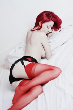 red by A-Finch on DeviantArt Red Haven, Boudoir Photography, Fashion Photography, Goddess Hairstyles, Dita Von Teese, Goth Girls, Redheads, Fashion Models, Pin Up