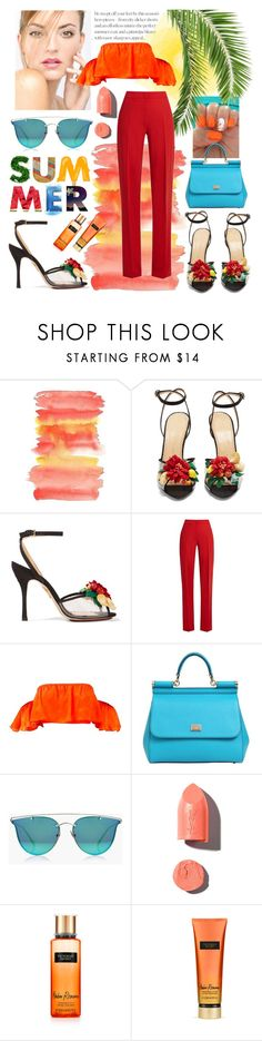 """""""SUMMER READY"""" by the-amj ❤ liked on Polyvore featuring Charlotte Olympia, MaxMara, Dolce&Gabbana, Boohoo, PUR and Victoria's Secret"""