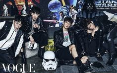 Vogue Korea, December 2015 Issue : EXO x STAR WARS Collaboration - Chen, Suho, Sehun, and Kai