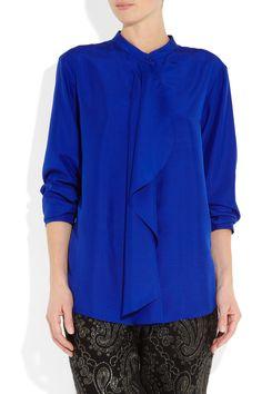 Stella McCartney|Jennifer draped silk shirt$840