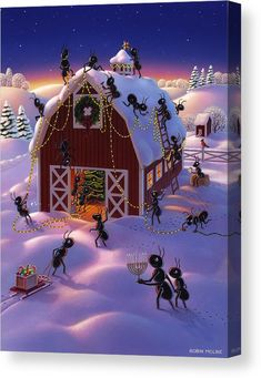 Choose your favorite winter scene paintings from millions of available designs. All winter scene paintings ship within 48 hours and include a money-back guarantee. Very Merry Christmas, Noel Christmas, Outdoor Christmas, Winter Christmas, Vintage Christmas, Winter Holidays, Christmas Scenes, Christmas Animals, Christmas Pictures