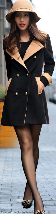 Black & Beige Coat