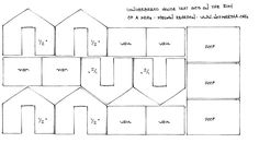 Template plan pattern for mini Gingerbread House that sits on the rim of cup or…