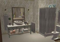 Brocante Bathroom 2. Virtual Room Design Home Décor using The Sims 2.