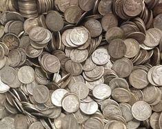 1932-1964 Washington Quarters 90% Silver | Etsy Valuable Pennies, Rare Coins Worth Money, Quarter Dollar, Error Coins, Coin Worth, Coin Ring, Silver Brooch, Coin Collecting, Silver Coins