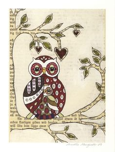 Mother and child owl